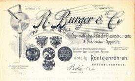 Briefkopf nach 1911 der Fa. R. Burger & Co.