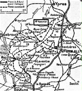 Phases de l'avancée allemande
