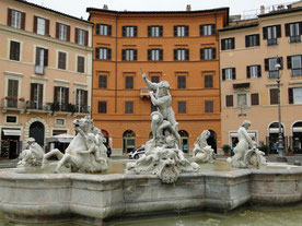 One of the fountains at Piazza Navona