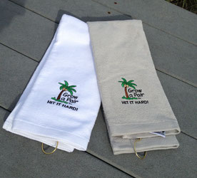 golftowel black massage squirt tri fold