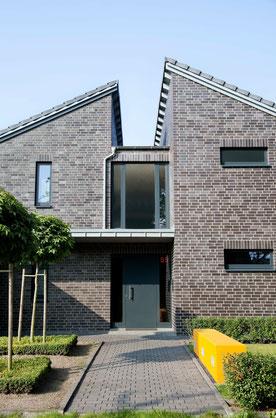 Einfamilienhaus, dunkler Verblender, modern, Ibbenbüren
