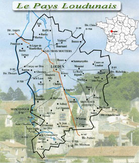 Carte du Pays Loudunais de l'association dynamob, vienne 86