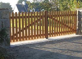 portail en bois exotique