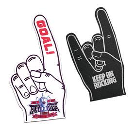 Winkehände mit ihrem individuellen Logo