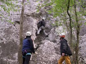 Spéléo escalade à St pé/Lourdes - 19/20 21 avril 2014
