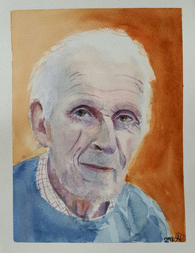"""Peter""22.9 x 30.9cm watercolour on paper."