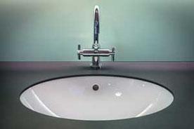 Moderne Waschbecken Sanierung Edelstahl