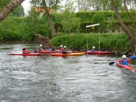 """Kayak """"ponté"""" eaux vives"""
