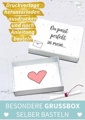 DIY Geschenk, Geschenk selber machen, Geschenk selber basteln, Geschenk für Freundin, Geschenk für Freund, Vorlage, Valentinstag