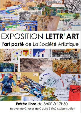 Affiche Expo Lettr'Art