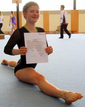 Yolanda Schankat glücklich über ihren 8. Platz.