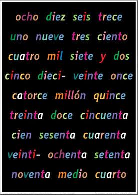 Español - la tabla de números