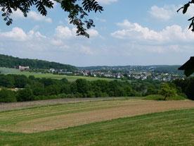 Blick von der Grillhütte auf Odersbach (Zum Vergößern anklicken)