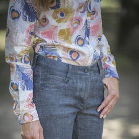 Bluse & Jeans aus Biobaumwolle von C.Pauli & Hellenic Fabrics