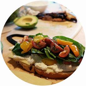 french toast tartines salades