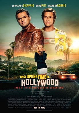 Once Upon A Time In Hollywood Hauptplakat
