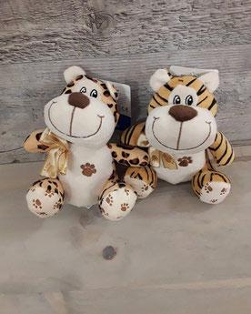 Tigre y leopardo polieste.r 7€