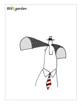 Blitzgarden Cartoon für Menschenkenner-Mkt.Oli Kock: Mann mit Tunnelblick