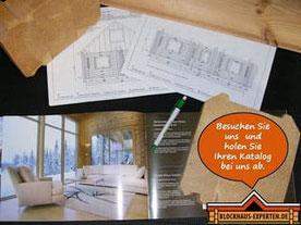 Der neue Blockhaus-Katalog ist da!  Hessen - Giessen - Fulda - Hanau - Marburg - Entwürfe - Finnische Blockhäuser zum Wohnen