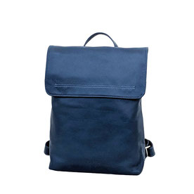 Leder Rucksack blau Bach Bag blue leather EM-EL Collection