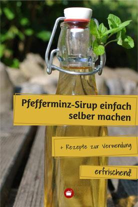 Pfefferminzsirup selbst herstellen #haltbarmachen #Pfefferminze #minze#minze #sirup #einkochen