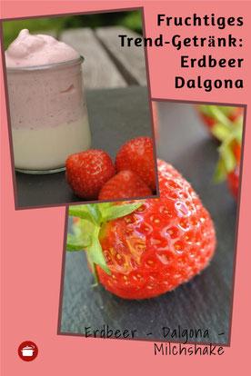 Dalgona Erdbeer Milchshake Erdbeer ohne koffein #dalgona #erdbeeren #thermomixrezepte