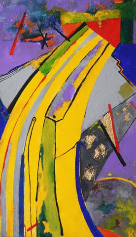 """Kovalenko Nadejda, """"Nachgeschmack"""", Öl auf Leinwand,  67 x 39 cm, 2012"""