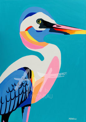 original painting colorful bird