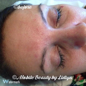3 weeks individual lashes infill and eyebrow threading before lidiya mobile beauty st albans