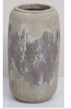 Macetero de cemento blanco espiritual