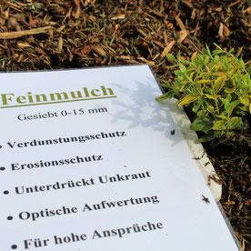 Feinmulch, Mulch, Rinde