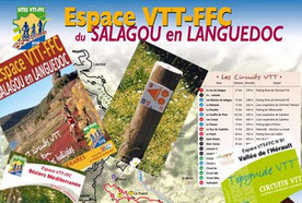 bike map and  bike park and tour south of france languedoc roussillon  lac salagou