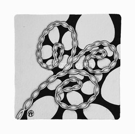 Zentangle Tile by Zenjoy Opus