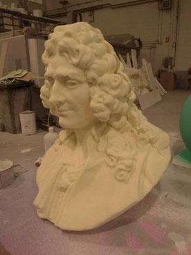 Busto barroco, para fundición