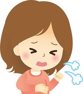 喘息の原因はプラスイオン