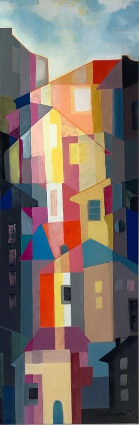 """Acrylic on canvas. Bouquet """"Delirium """"  33X46 cm"""
