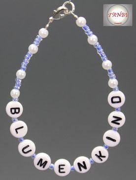 Armband-Blumenkind-Blumenmädchen-Hochzeit-Armband-Blumenjunge-Kind-Kinder-blau-hellblau