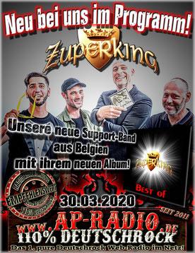 Zuperking bei AP-Radio 110% Deutschrock
