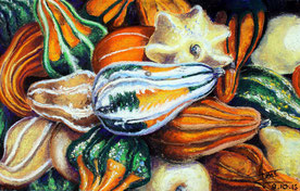 Coloquintes en vrac, 2009, 40x50 cm, 250 €