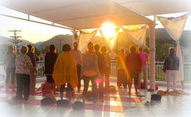 Sonnenaufgangsmeditation | Seminarreise Korfu