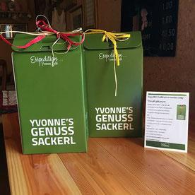 """Die besondere Geschenkidee - Yvonne´s Genuss Sackerl ! Bestellungen können Sie über unser Kontaktformular abwickeln !!! Mehr dazu in der """"GALERIE""""."""