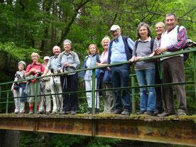 Auf der Brücke über die Lieser