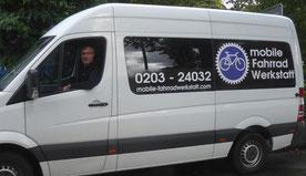 Fahrzeug der mobilen Fahrradwerkstatt