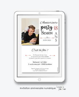 Invitation anniversaire homme numérique-Invitation électronique-Invitation numérique-imprimable-pdf numérique-Invitation connecté-Invitation anniversaire à envoyer par mms-par mail-réseaux sociaux-whatsapp-facebook-anniversaire party-