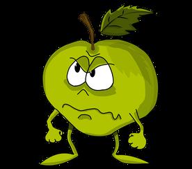 dessin-de-pomme-personnage-en-colere