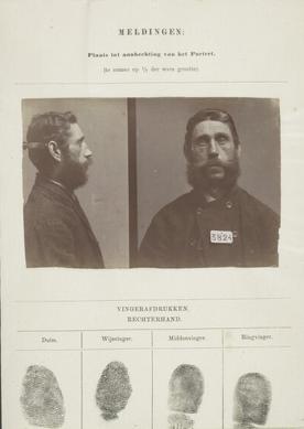 Signalementkaart Veenhuizen opname: 25-06-1896
