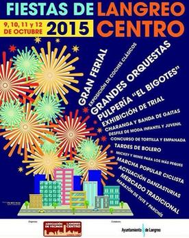 Fiestas de Langreo Centro 2015 Programa y Cartel