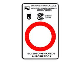 Modelo de señalización para el área Madrid Central