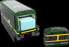 ホッチキス 電車型 収納BOX 付箋
