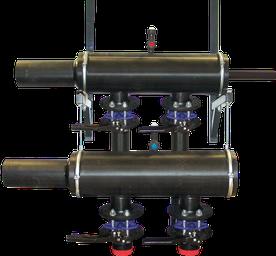 soluzioni a cascata: collettore per sonde geotermiche - geotermia di Solar hoch 2